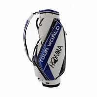 HONMA Golf TOUR WORLD Men's Cart Caddy Bag 9 x 47 inch 3.3kg White Blue CB-1731