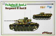 "DRAGON/CyberHobby WhiteBox No.29 6510 ""Pz.Kfw. III Ausf.J & Borgward IV"" in 1/35"