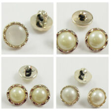 GOLD PEARL FACED ROUND SEW ON BUTTONS *5 STYLES* HABERDASHERY SEWING CARDIGANS