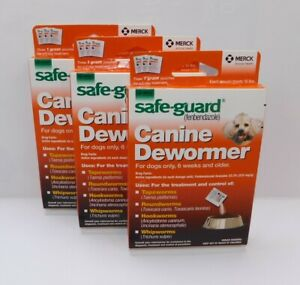 SafeGuard FenBen Canine Dewormer. 10 lbs. 3 box lot. Exp 4/23 Free shipping US.