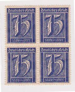 (GC-24) 1921 Germany 75pf blue 4block (C) M NG