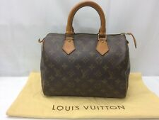 "Auth Louis Vuitton Monogram Speedy 25 Hand Bag 8L260730n"""