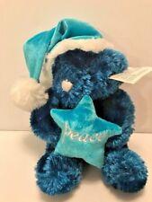 Dan Dee Collectors Choice Peace Teddy Bear with Santa hat plush stuffed animal