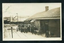 RPPC Railroad Train Station DEPOT mid-west ?? real photo postcard RP