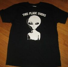 Goodie Two Sleeves Men's T shirt Top Alien ET Space Extraterrestrial Black New