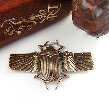 ANTIQUE BRASS Large Scarab BEETLE Wings Stampings ~ Finding (C-406)