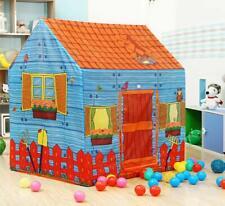 Playhouse Palace Castle Children Play Tent Folding Storage Kids Farm House Tent