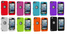Deluxe Tripe Layer Hybrid Hard Gel Case Cover for iPod Touch 5th Generation 5G