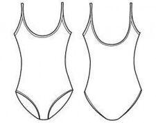 Capezio 49C Girl's Med/Sm (6X-7) Nude Basic High Scoop  Neck Camisole Leotard