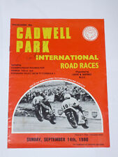 1980 Cadwell Park Programme Signed By Ron Haslam