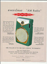 Everclear Am Radio Transistor Radio Trade Ad Poster for Songs from Cd Mint 2000