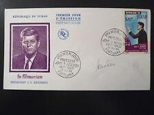 TCHAD  AERIEN 23  PREMIER JOUR  FDC     JOHN F. KENNEDY        100F    1964