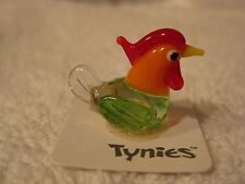 AMY Chicken Orange TYNIES Tiny Glass Figure Figurines Collectibles 0082