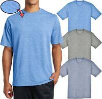 Mens Heather T-Shirt Dry Zone MICRO MESH Moisture Wicking Tee XS-XL 2X 3X 4X NEW