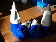 Walther electric 3 pin 16 amp 16a ip44 240v blue socket plug x4 used sockets