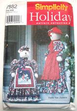 "Dressed greeters 55"" Snowlady 40"" polar bear Christmas decor pattern 7882 uncut"