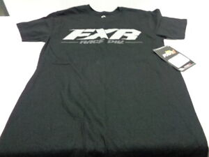 Men's FXR Team T-Shirt Black/Gray Size is Small Free Shipping