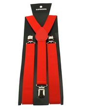 Men / Ladies Plain  Trousers Braces Adjustable 25mm Width
