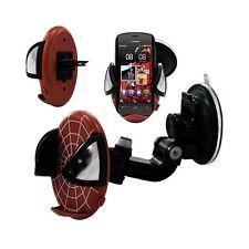 Support universel auto 2en1 pour Nokia 808 PureView motif toile couleur rouge