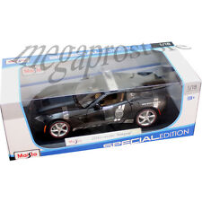 Maisto 2014 Chevy Corvette C7 Stingray 1:18 Diecast Model Police Car Matte Black