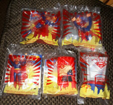 DC Comics SUPERMAN Burger King toys - COMPLETE set of 5 - all MIP