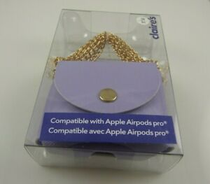 Purple case for apple airpods pro 3 feet chain