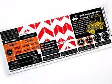 REPLACEMENT STICKERS for Lego 8110 Unimog U 400 + UNIQUE Plaque sticker +Extra's