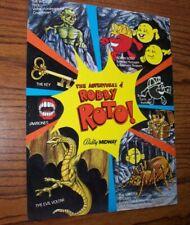 Robby Roto Arcade Game Flyer Original 1982 Classic Video Game Artwork Sheet