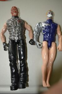 Commander Burnt Face Cobra GI JOE Hasbro 1996 & Max Steel Cyborg Action Figures