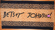BETSEY JOHNSON LEOPARD HEARTS COTTON BEACH TOWEL 35x66 NEW AUTHENTIC