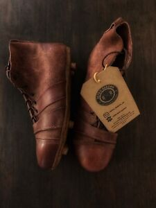 Retro Reborn Vintage Style Traditional Real Leather Football Boots Tan Brown