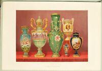 Grande 1862 Exhibition Stampa Porcellana Vasi Da Imperial Manufactory