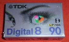 TDK DIGITAL 8 90 (LP: 135) BLANK CAMCORDER TAPE - BRAND NEW & SEALED