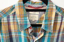 "White Stuff Madras Shirt Linen Check Classic Fit Medium 42"" Chest Multicoloured"