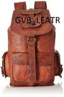 Big Sale Men's Leather Backpack Bag Satchel Briefcase Laptop Brown Vintage Bag