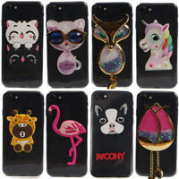 Transparent 3D Cartoon DIY Soft TPU Phone Cover Case For HTC U11 D828 D10 10 Evo
