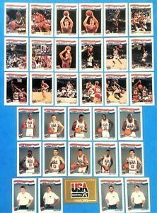 1991-1992 Hoops USA Olympic Dream Team Set of 32 + Gold card - Jordan Bird Magic