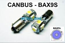 2x 5 SMD LED 433 434 BAX9S H6W Offset Pins Canbus Nessun Errore Gratuito Lampadine Laterali