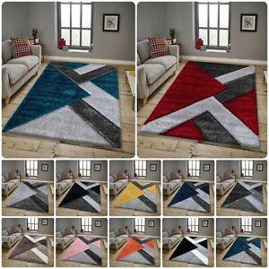 Modern Hand Carved Soft NOVA Shaggy Rugs Washable Living Room Carpet Floor Mats