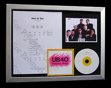 UB40 One In Ten GALLERY QUALITY CD MUSIC LTD FRAMED DISPLAY+EXPRESS GLOBAL SHIP