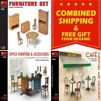 INTERIOR FOR DIORAMAS MINIART 1/35 PLASTIC MODEL KIT BUILDING ACCESSORIES