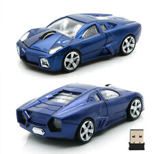UK 2.4GHz Gaming Mouse Blue Wireless USB 1600DPI 3D Car Model Optical F XP Vista