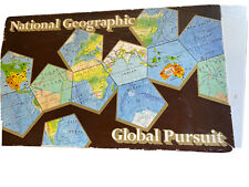 National Geographic Global Pursuit Game - Geography Educational: World Maps Vtg