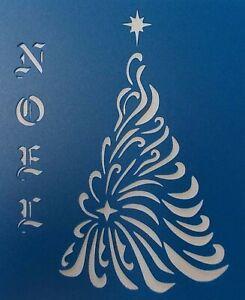 Scrapbooking - STENCILS TEMPLATES MASKS SHEET - Christmas-Tree Noel Stencil