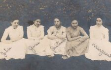 Vintage Postcard Real Photo Five Beautiful Young Ladies 1909 Fashion Meadville