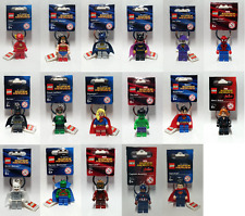 Lego Keyring Super Heroes - Superman - Spider-Man - Batman - Wonder Woman - BNWT