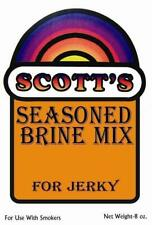 Scotts Seasoned Brine Mix For Jerky 8 Ounce Pkg For Up to 12 Lbs of Meat