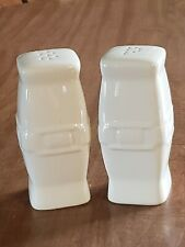 New ListingCollectible Longaberger Ivory Woven Traditions Soft Square Salt Pepper Shakers