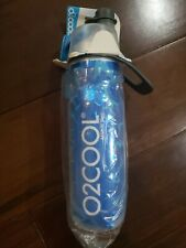 O2COOL Arctic Squeeze Mist 'N Sip Insulated Bottle w/Silicone Spout Cover 20oz