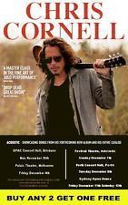 CHRIS CORNELL Soundgarden 2015 Laminated Australian Tour Poster